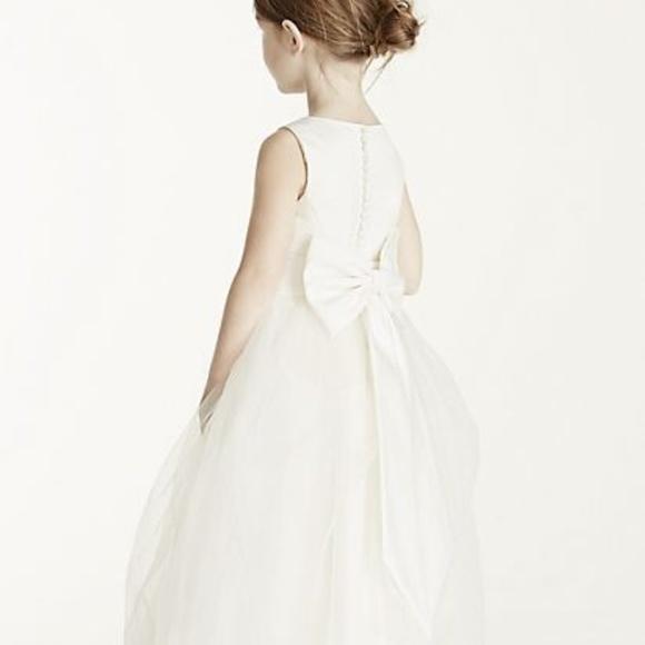 3595de13822 David s Bridal Other - Satin flower girl dress with tulle skirt